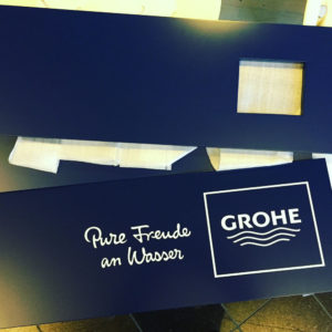 Grohe - instore skilte