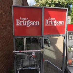 Super Brugsen - Skilt med tryk